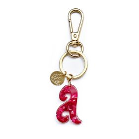 Keychain letter A pink Gaudi alphabet collection