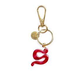 Pink Keychain Alphabet Gaudí Collection Letter S