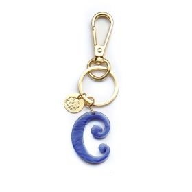 Blue Keychain Alphabet Gaudí Collection Letter C
