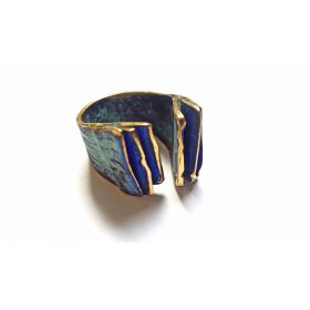 """Sol y Luna"" blue ring"