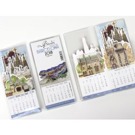 Gaudí drop-down calendar 2018. Small size