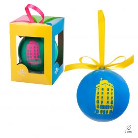 Christmas ball Neon collection. Blue