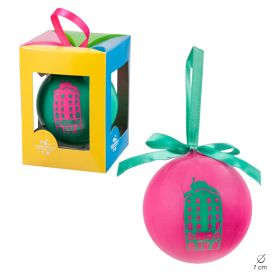 Christmas ball Neon collection. Pink