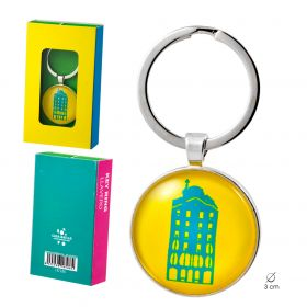 Key chain Neon collection. Yellow