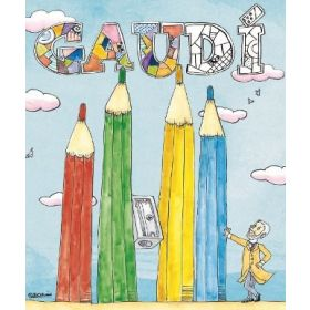 Gaudí colouring book
