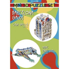 Casa Batlló y Dragón Mini Puzzle Set