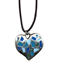 Heart with mosaic necklace