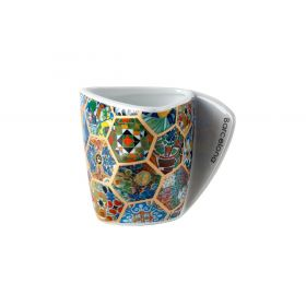 Hexagonal porcelain mug
