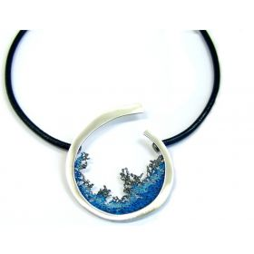 """Luna"" big silver necklace"
