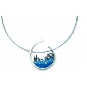 """Luna"" small silver necklace"