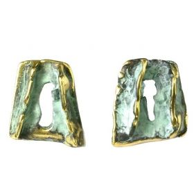 """Oceano"" green earrings"
