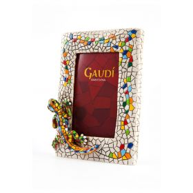Parc Güell dragon resin photo frame