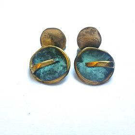 """Sol y Luna"" green earrings"