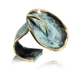 """Sol y luna"" green ring"